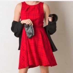 LIKE-NEW Elle Pin-up Style Retro Dress Red/Black